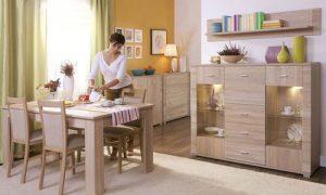 Мебель цвета дуб Атланта в интерьере квартиры