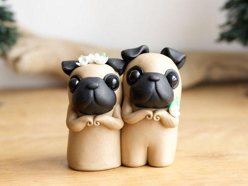 Собачки глиняные