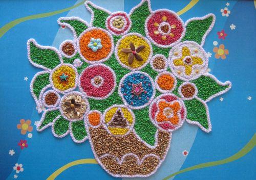 Картина из круп и семян
