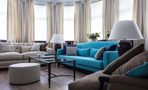 Модульный диван в современном интерьере