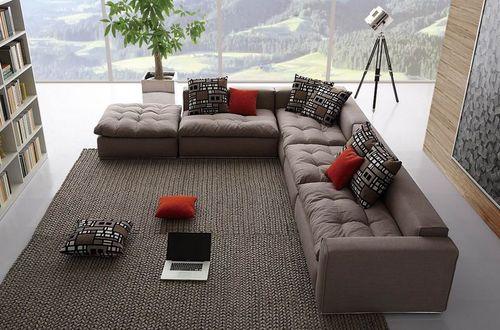 Модульные диваны со спальным местом для гостиной и кухни