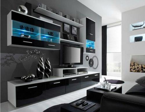 Черная модульная гостиная