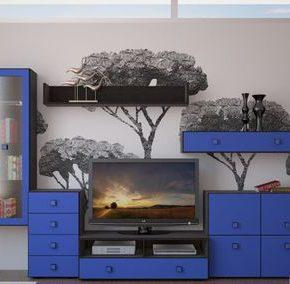 Модульные стенки в интерьере детской и гостиной