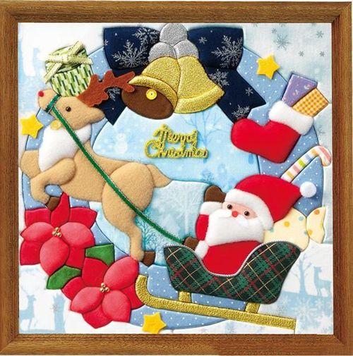Новогоднее панно из ткани