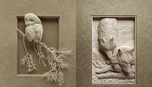 Бумажная 3D-картина