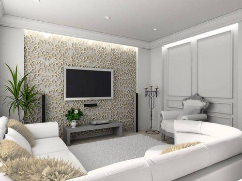 Гостиная комната в светлых тонах