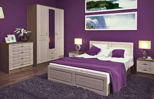 Ясень шимо светлый в интерьере спальни