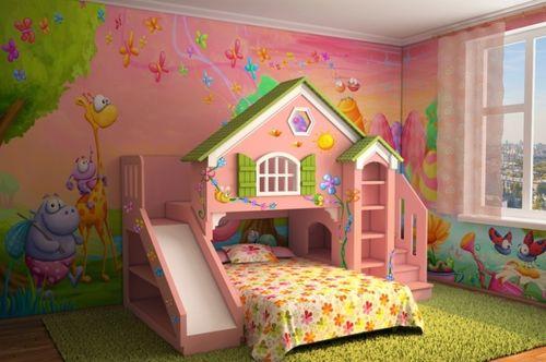 Кровать в виде домика с игровой зоной
