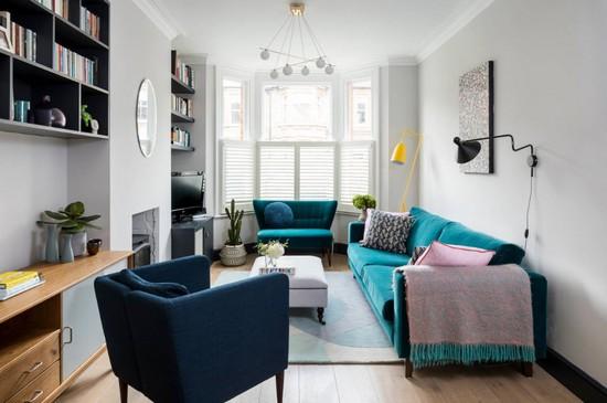 Диваны в интерьере гостиной: виды и идеи