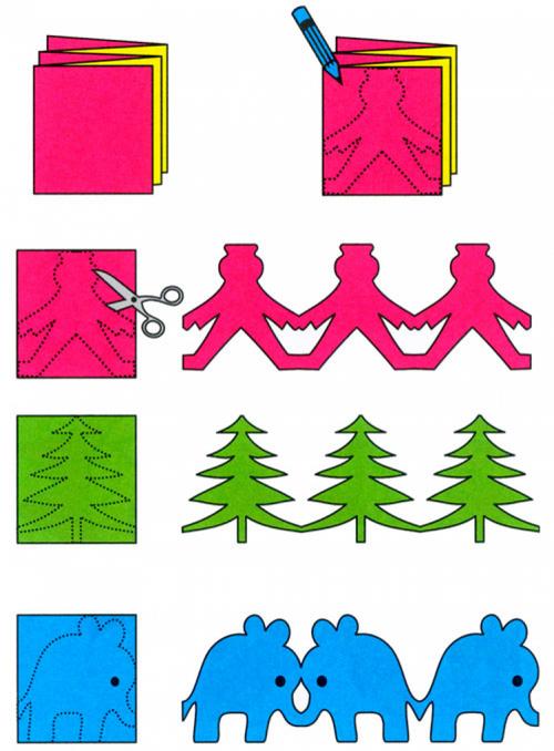 Схема изготовления простой гирлянды