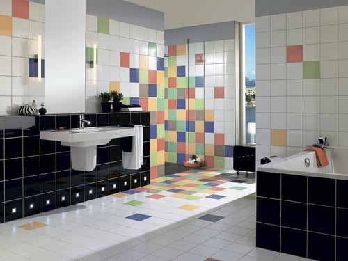 Оригинальные варианты раскладки плитки в ванной