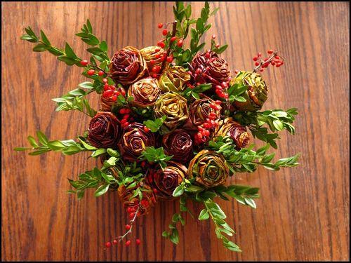 Икебана с розами