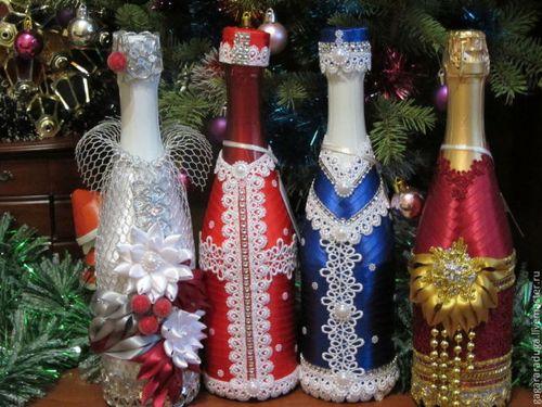 Новогодний дизайн бутылок