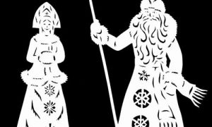 Варианты украшения окон к Новому году из бумаги