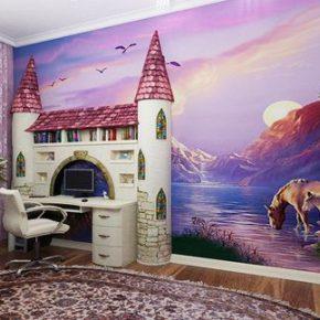 Креативные варианты оформления стен для детской комнаты