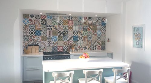 Дизайн кухни пэчворк
