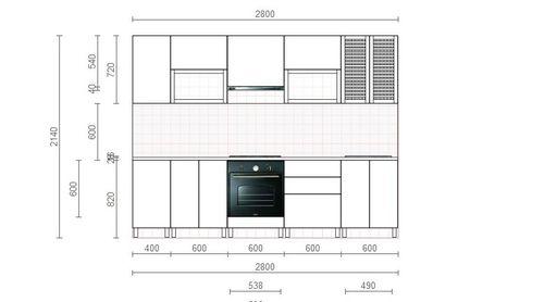 Стандартная комплектация кухни