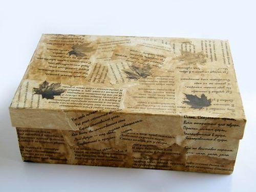 Оформленная коробка-чемоданчик