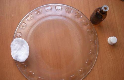 Обезжиривание тарелки