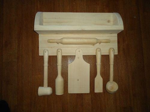 Заготовка деревянных кухонных принадлежностей