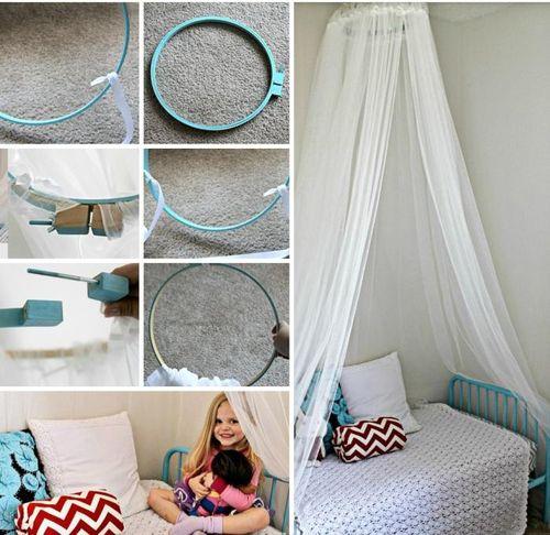 Как сделать балдахин над детской кроваткой