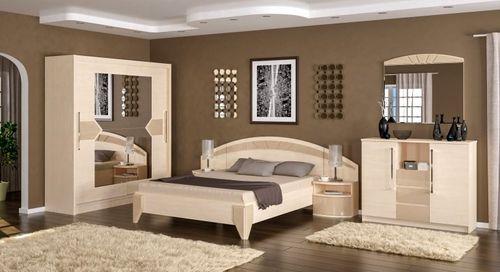 Спальня в светлом исполнении