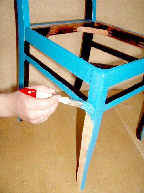 Окрашиваие стула