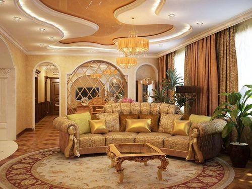 Пример золотого цвета в интерьере