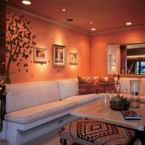 Дизайн интерьера в терракотовом цвете