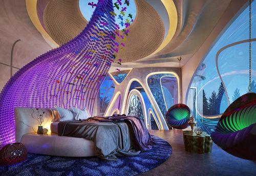 Спальня в стиле бионика