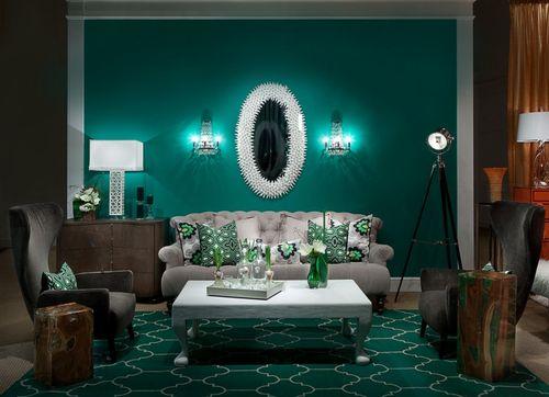 Благородный дизайн в зеленом цвете