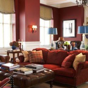 Бордовый цвет в интерьере квартиры и дома
