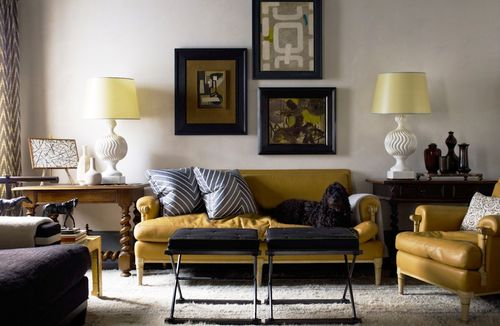 Мебель в горчичном цвете