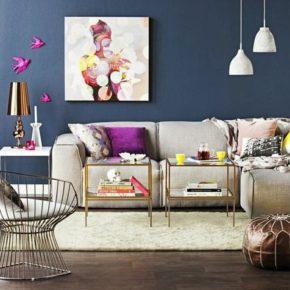 Стили интерьера в цвете маренго