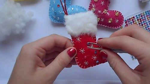 Изготовление новогоднего сапожка