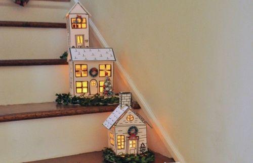 Примеры домиков из картона