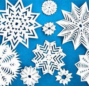 Новогодние снежинки - простые и объемные