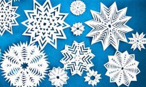 Новогодние снежинки — простые и объемные