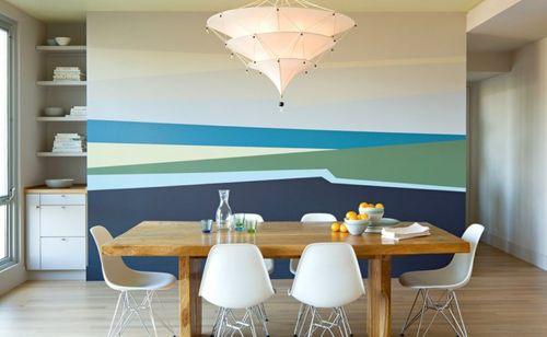 Интересная окраска стен