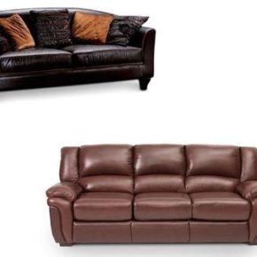 Обзор стильных моделей кожаных диванов